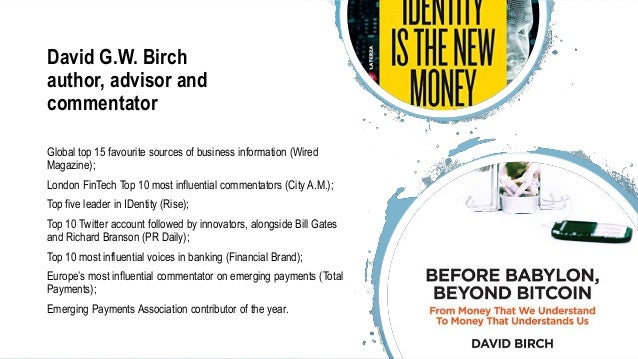 David Birch - AI and the Blockchain Slide 2