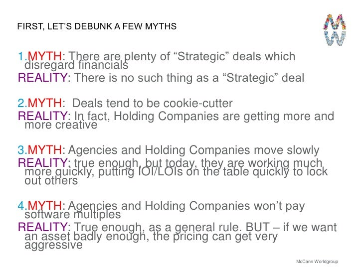 The Other Side of M&A: A View From The Agency's Perspective Slide 3
