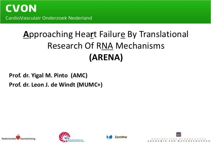 Approaching Heart Failure By Translational Research Of RNA Mechanisms (ARENA)<br />Prof. dr. Yigal M. Pinto  (AMC)<br />Pr...