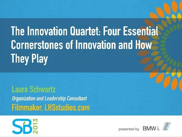 The Innovation Quartet:Four Essential Cornerstonesof Innovation and How ThePlayLaura SchwartzOrganization and Leadership C...