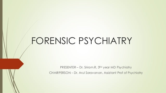 an essay on forensic psychiatry
