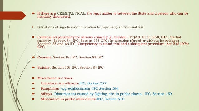 crimes insanity and intoxication in ipc crimes project general exceptions intoxication and insanity girish deepak ii semester 758 introduction this project deals with a few of the general defences that are enshrined in chapter iv of the indian penal code.