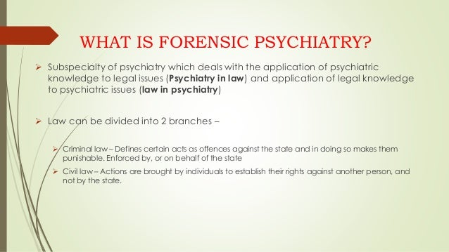 Forensic Psychiatry Fellowship Psychiatry - mandegar info