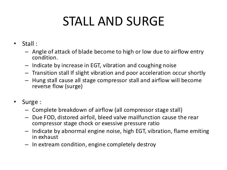 compressor stall