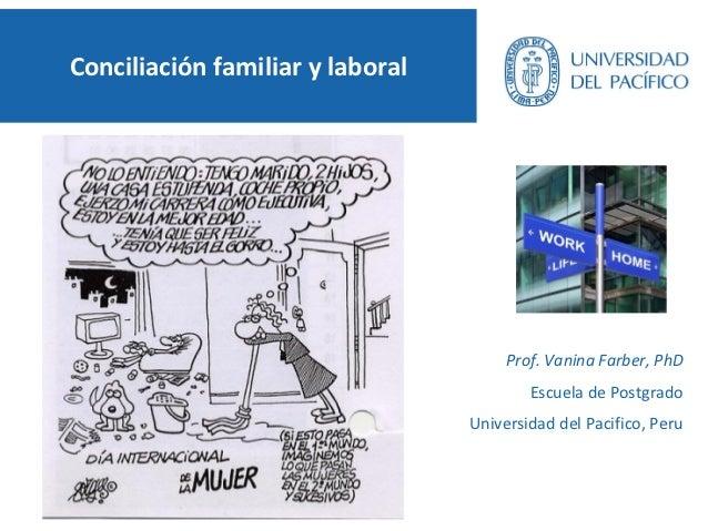 Conciliación familiar y laboral                                       Prof. Vanina Farber, PhD                            ...