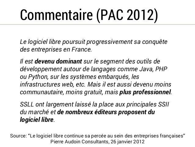 Notre thèse  Le leadership de la France dans l'adoption du  logiciel libre résulte d'un contexte idéologique et  pratique ...