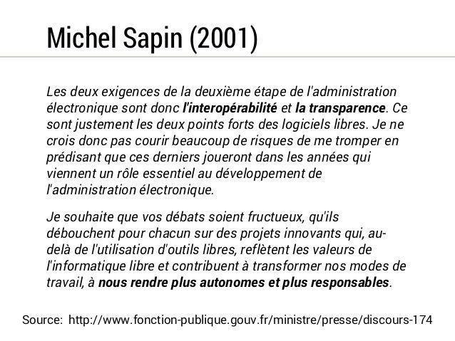 Thierry Breton (2006)  De nombreux services de l'État lancent des projets de  développement informatique qui utilisent le ...