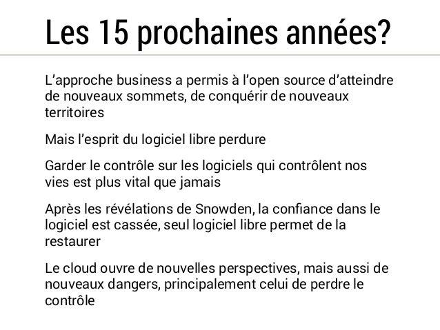 15 ans de politiques publiques du logiciel libre en France
