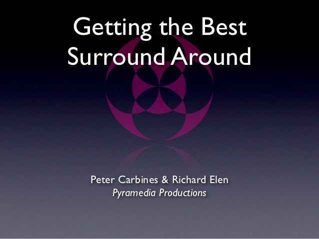Getting the BestSurround Around  Peter Carbines & Richard Elen      Pyramedia Productions