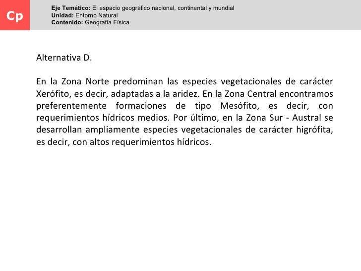 Eje Temático: El espacio geográfico nacional, continental y mundialCp      Unidad: Entorno Natural        Contenido: Geogr...