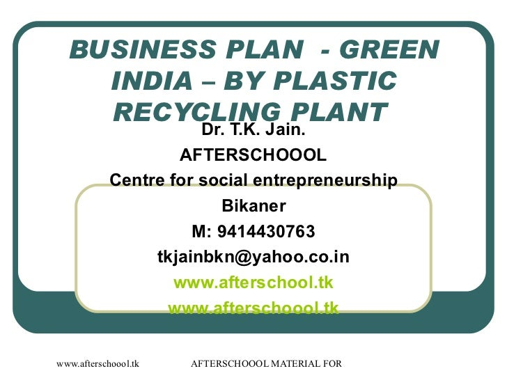 Solid waste management business plan india