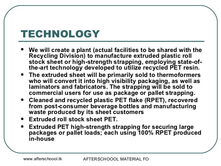 A Sample Recycling Business Plan Template