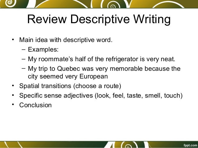 15. descriptive writing, comma practice, complex sentence practice