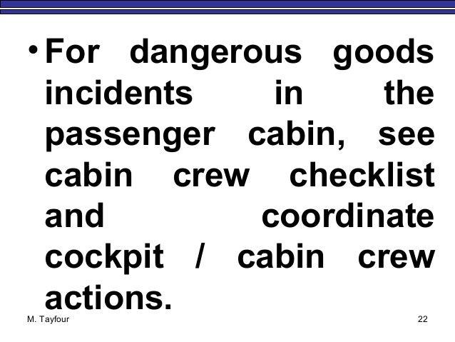 15 IATA emergency response