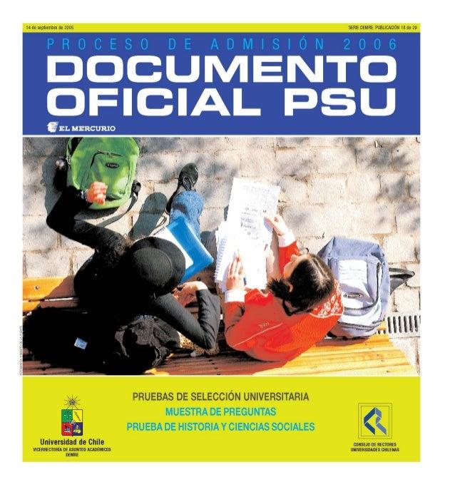 PSU HISTORIA Y CIENCIAS SOCIALES4 MUESTRA DE PREGUNTAS PRUEBA DE HISTORIA Y CIENCIAS SOCIALES REGIÓNY PAÍS ESTUDIO REGIONA...