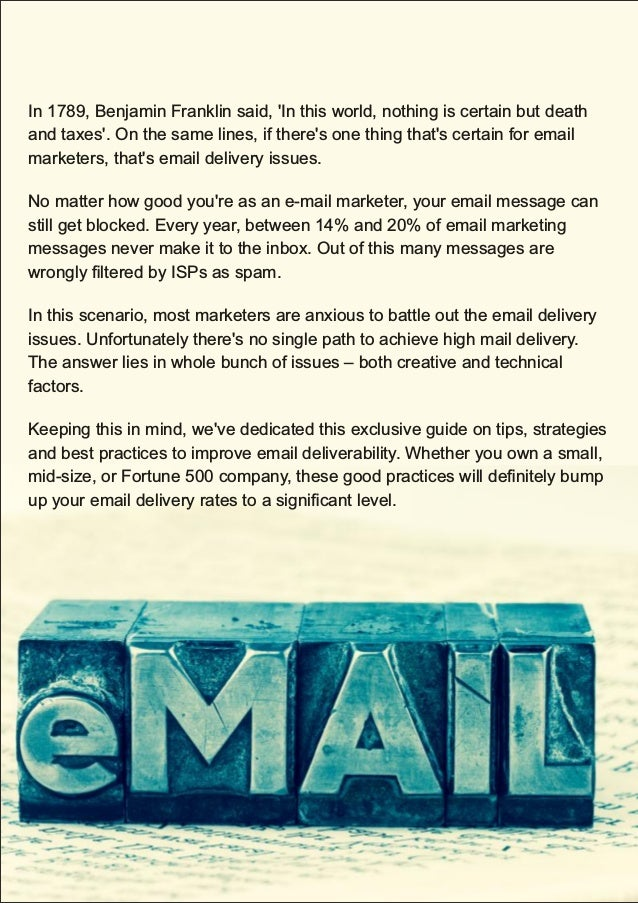 15 Tips to Improve Email Deliverability (Span Global Services)