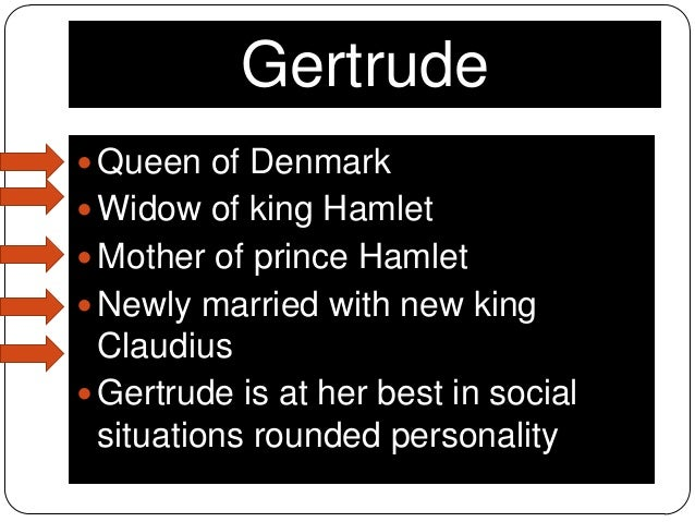gertrude hamlet relationship Gertrude and the ghost: matters of parental mind play in shakespeare's hamlet hamlet sees the wild passion of gertrude and claudius' relationship and.