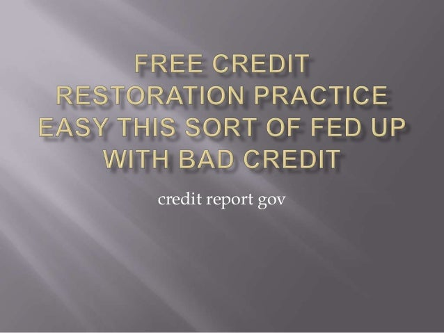 credit report gov