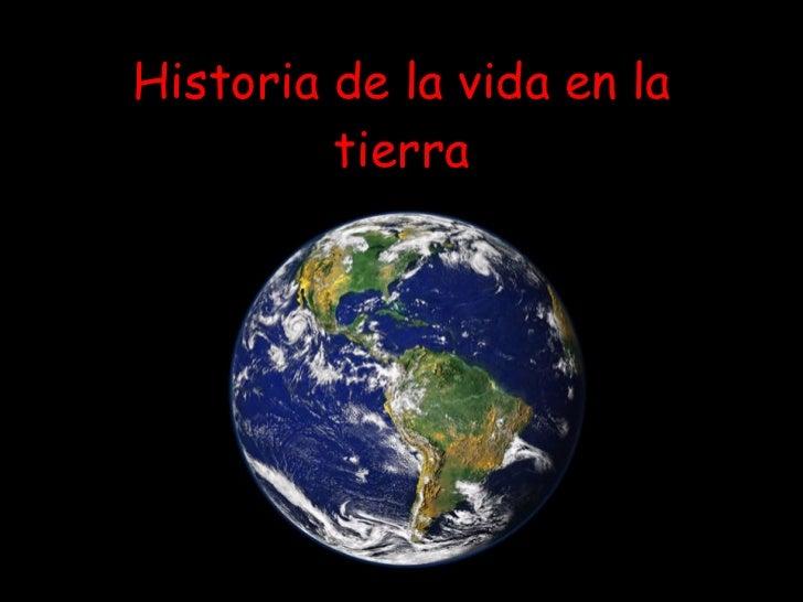 Historia de la vida en la tierra