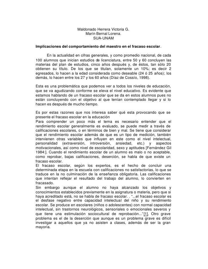 RENDIMIENTO ESCOLAR                         Maldonado Herrera Victoria G.                             Marín Bernal Lorena....