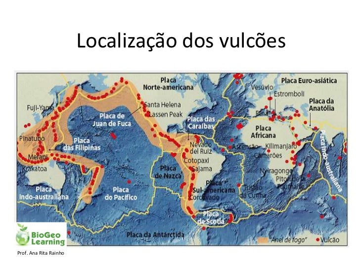 Localização dos vulcõesProf. Ana Rita Rainho