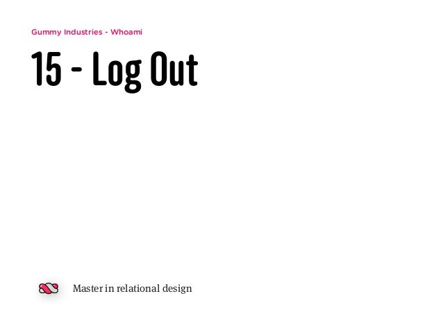 Gummy Industries - Whoami 15 - Log Out Master in relational design