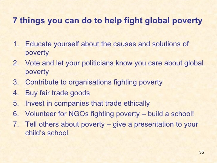 10 Solutions to Poverty