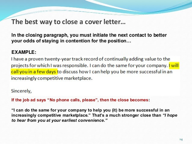 15 minute cover letter makeover for Closing paragraph of a cover letter