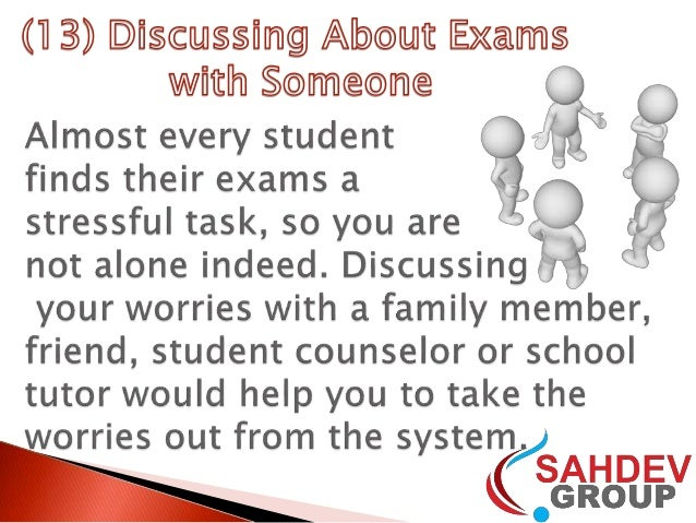 how to avoid nervous breakdown during exams How to stop feeling nervous from anxiety  we really suggest people take our anxiety test - it provides a breakdown of how your particular anxiety manifests itself.