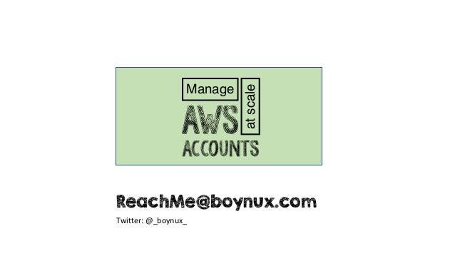 Manage atscale Accounts AWS ReachMe@boynux.com Twitter: @_boynux_