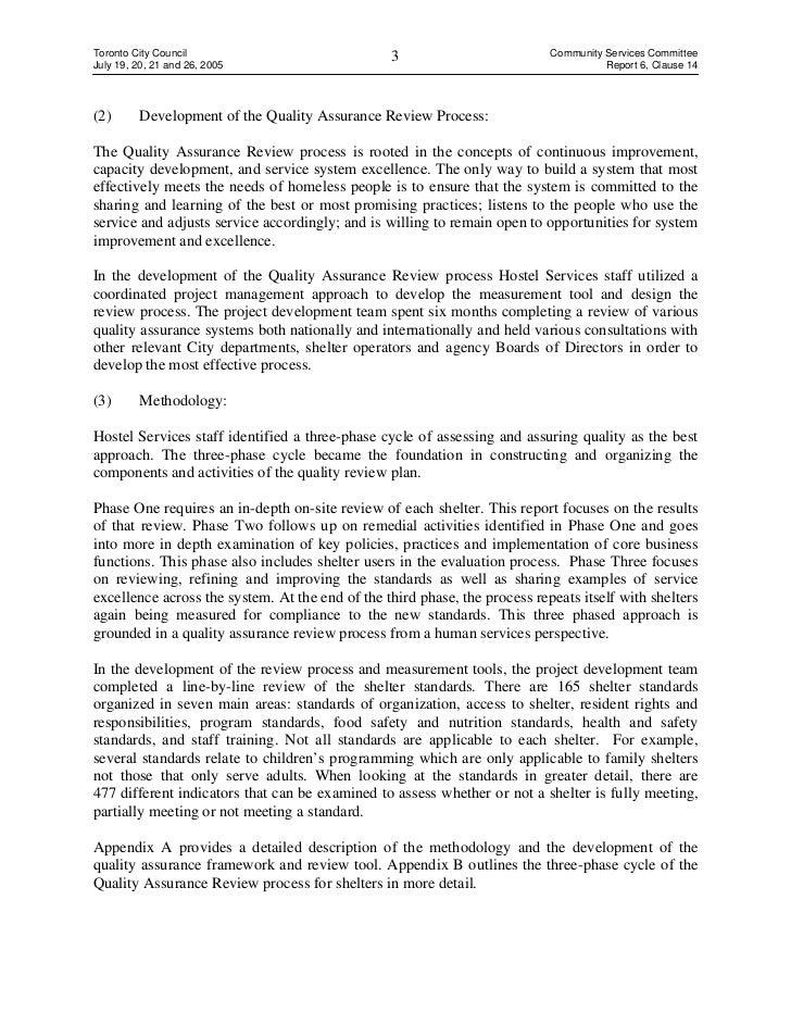 Internal Audit Quality Assurance Review