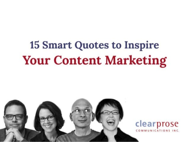 The essence of good content marketing? Above all else, be helpful. JENNIFER TRIBE Clear Prose Communications Inc. Content ...