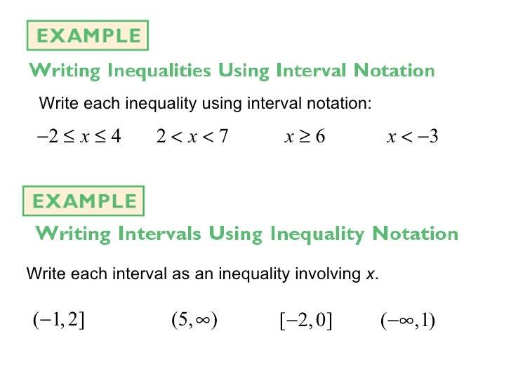 1.5 Solving Inequalities