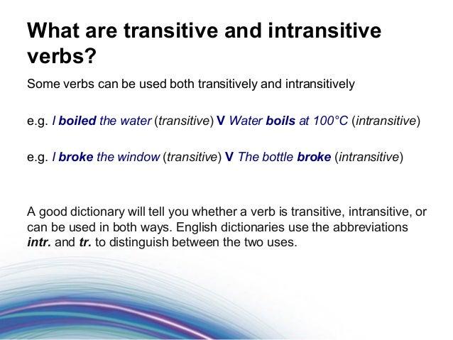 English Verbs: Copular, Intransitive, Transitive, Ditransitive, and Ambitransitive