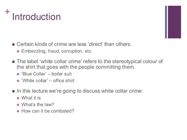 notes on white collar crime