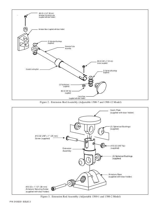 Edwards Signaling 1500-7 Door Holder Extension Rods Adjustable Extension