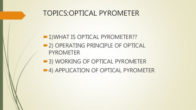 what is a pyrometer used for