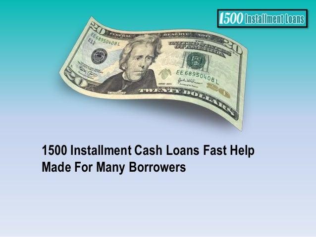 Online Installment Loans For 1500