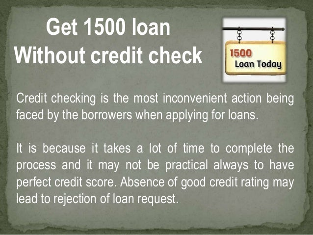 1500 loan with no credit check