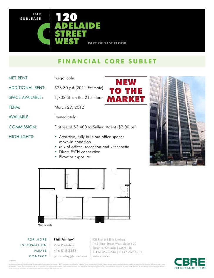 120                               FOR                          SUBLEASE                                                   ...