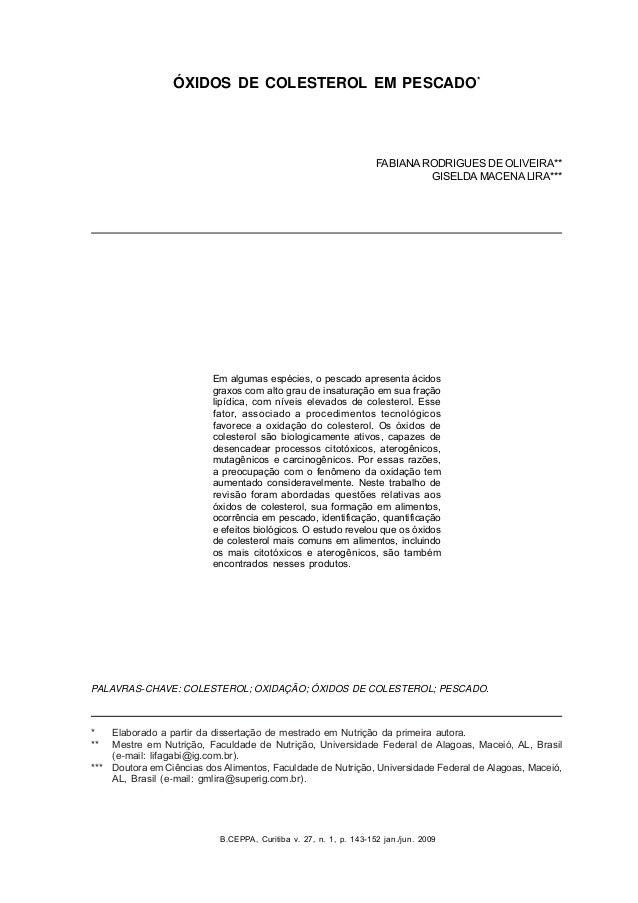 B.CEPPA, Curitiba v. 27, n. 1, p. 143-152 jan./jun. 2009 * Elaborado a partir da dissertação de mestrado em Nutrição da pr...