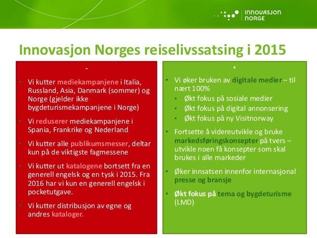 Reiselivsåret 2014 og prognoser for 2015 Slide 3