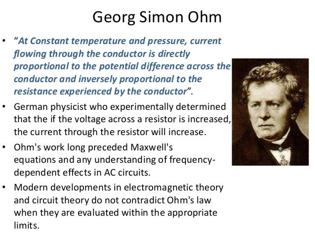 an analysis of the topic of the ohms law Real analog - circuits 1 real  resistors and ohms law - resistance  but instead introduces the topic qualitatively in the context of systems with which the.