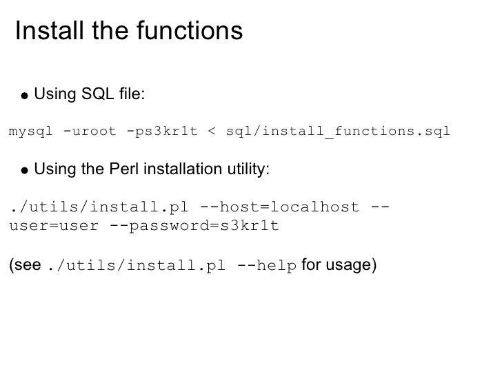 function of my sql Save time when inserting, updating and deleting items from your mysql database  with custom php functions.