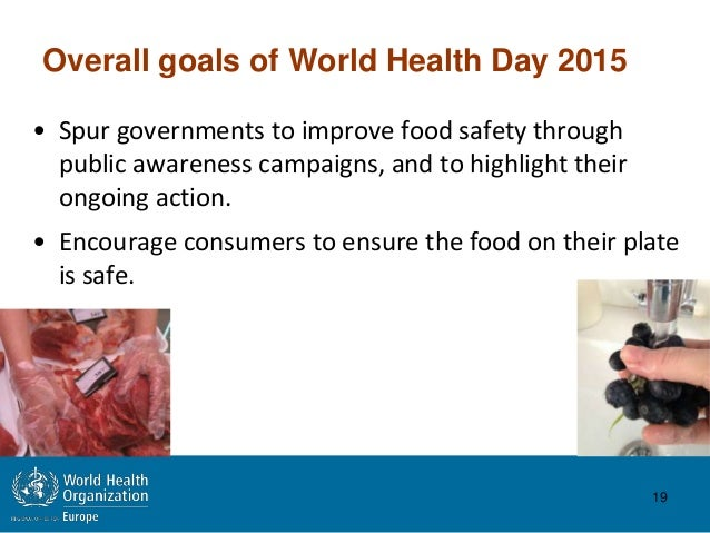 World Health Day 2015 7 April: Food safety