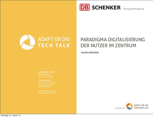Paradigma Digitalisierung // Digitale Transformation