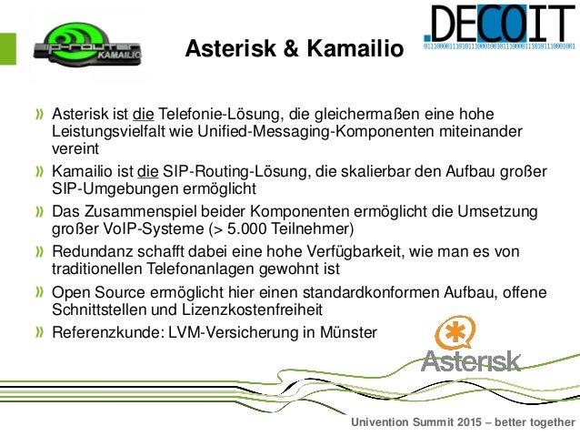 Asterisk4UCS Präsentation auf dem Univention Summit 2015 Slide 2