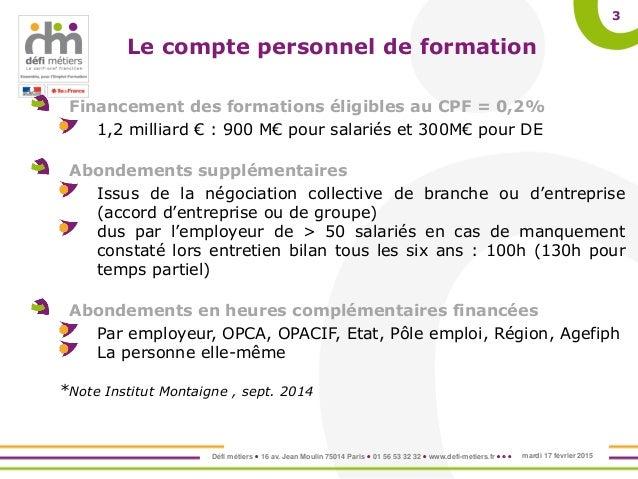 La mise en oeuvre du compte personnel de formation cpf - Formation cuisine collective pole emploi ...