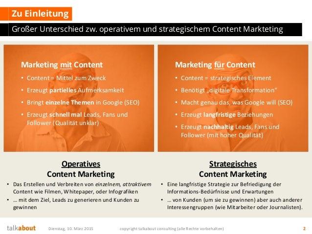 Strategisches Content Marketing - Ein Framework zur Strategieentwicklung mit Scompler Slide 2