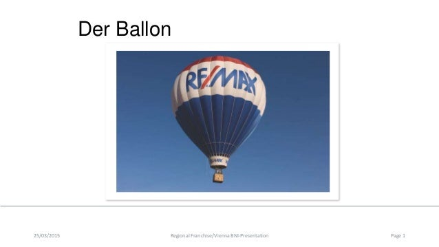 Der Ballon 25/03/2015 Regional Franchise/Vienna BNI-Presentation Page 1